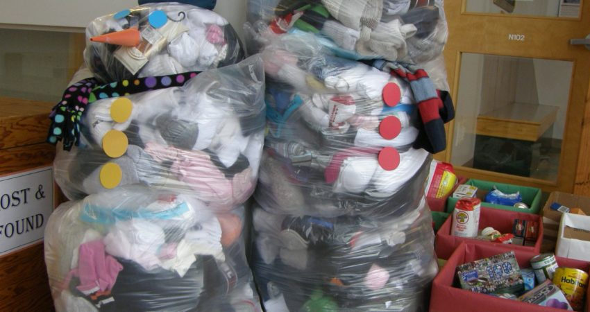 Our annual sock drive for Our Place